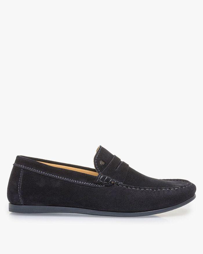 Dunkelblauer Wildleder-Loafer