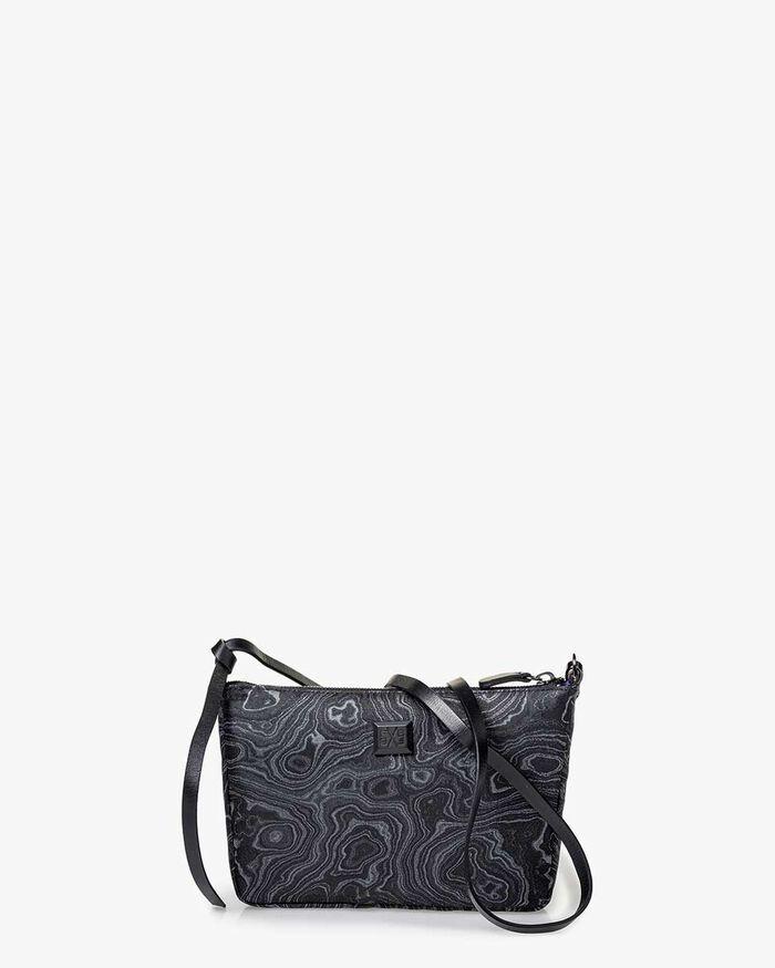 Crossbody-Tasche Print schwarz