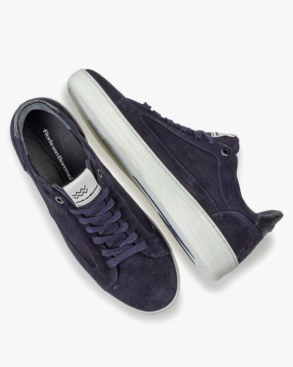 Wildleder-Sneaker blau