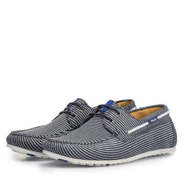 Leather boat shoe