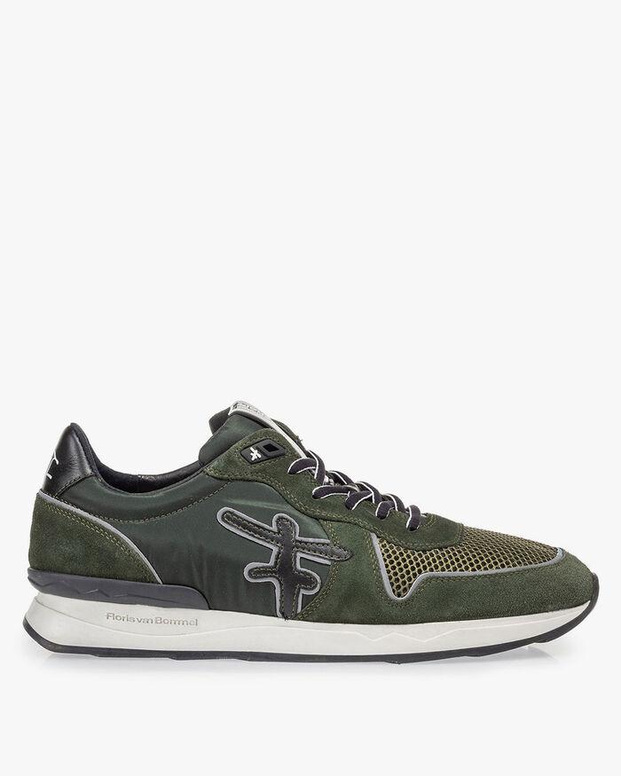 Sneaker dunkelgrün Wildleder