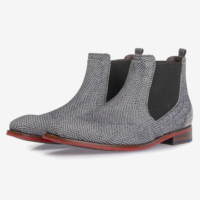 Chelsea Boot Leder cremeweiß