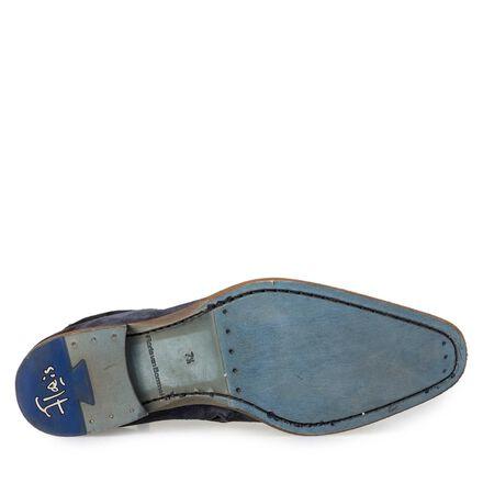 Floris van Bommel men's suede leather patchwork Chelsea boot