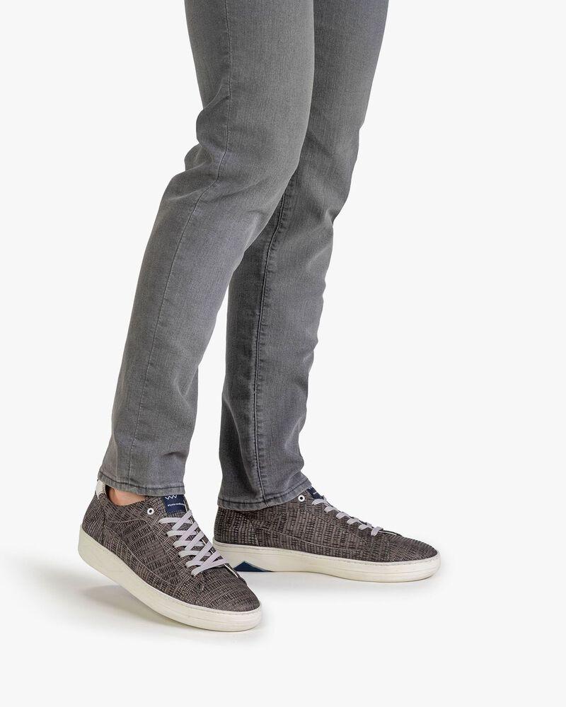 Sneaker mit Print taupe