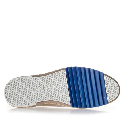 Leder Sneaker mit blauem Zick-Zack-Element