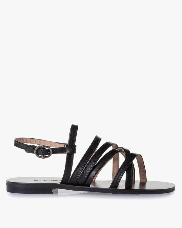 Sandal calf leather black
