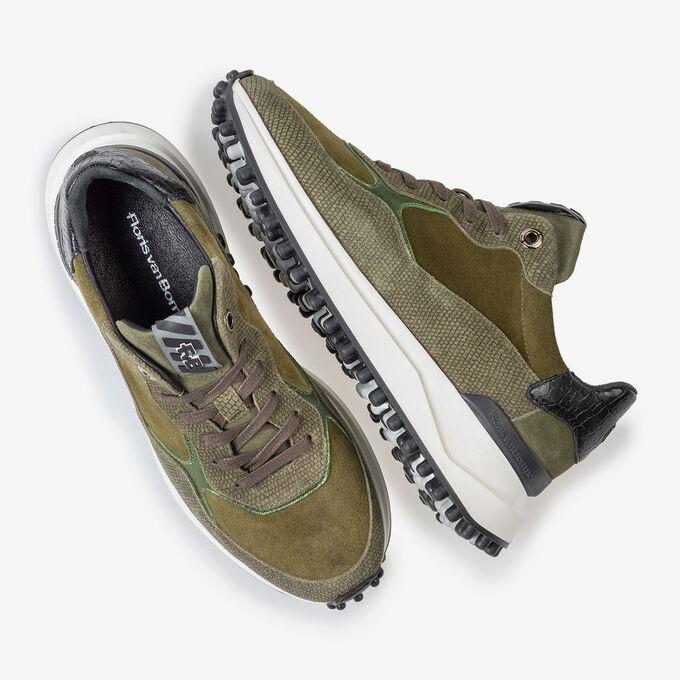 Noppi Sneaker Wildleder grün