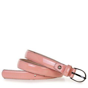 Gürtel Lackleder pink