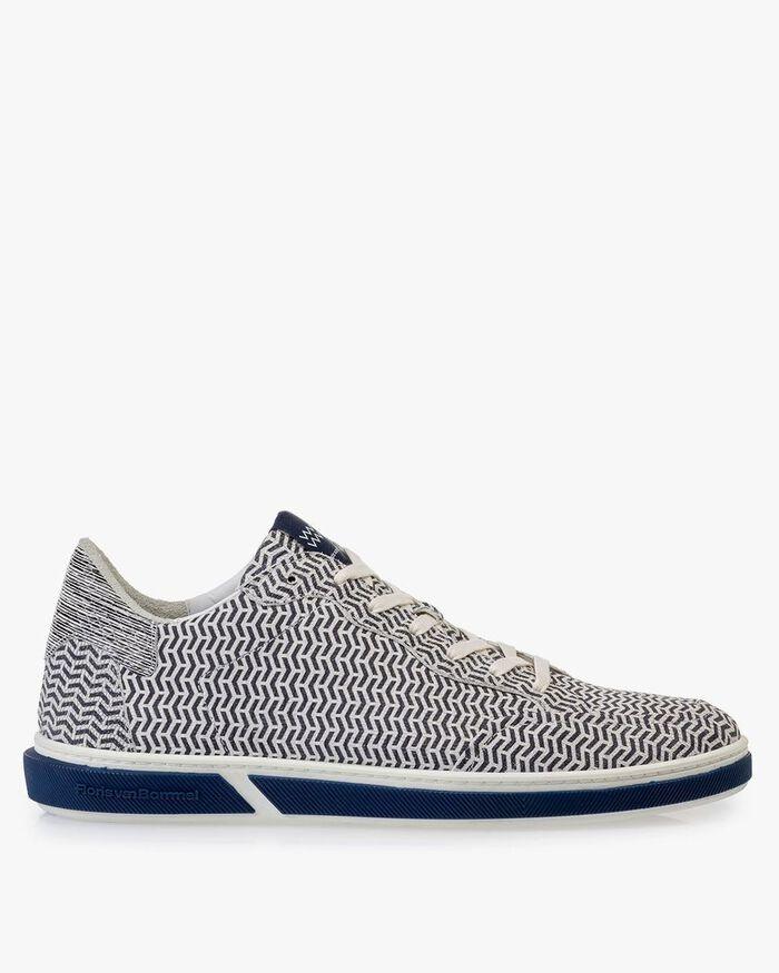 Sneaker Leder schwarz-weiß