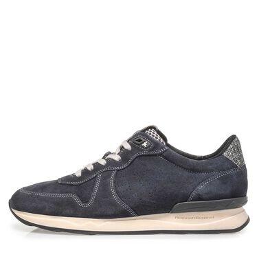Leder Sneaker mit Laufschuhsohle