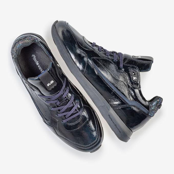 Sneaker blaues Lackleder