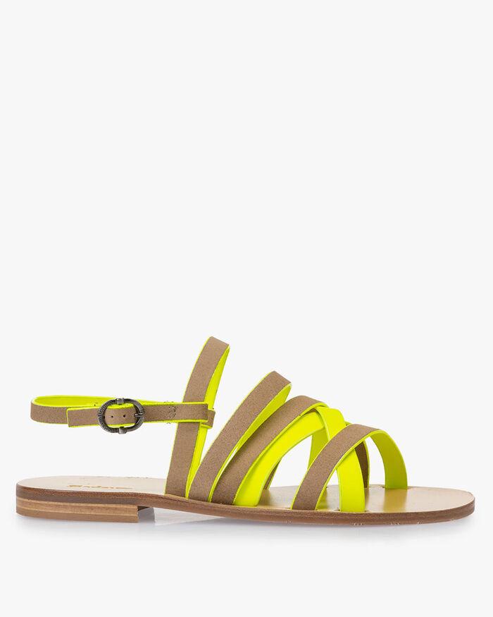 Sandale Wildleder beige