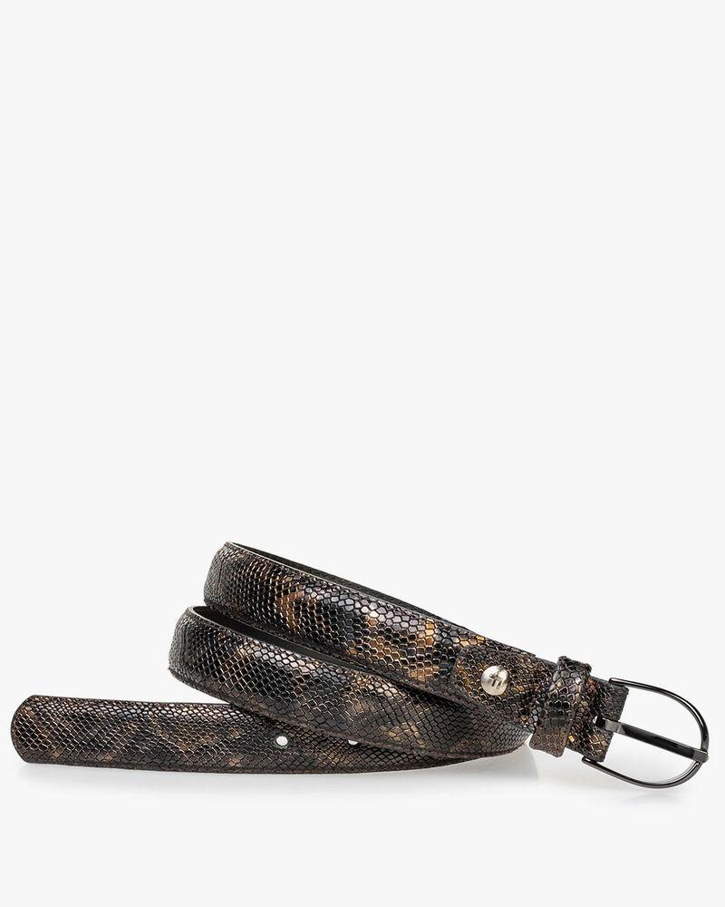 Damengürtel Krokoprint kupfer