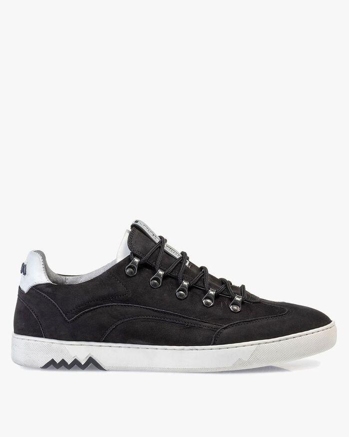 Hiking-Sneaker Nubukleder schwarz