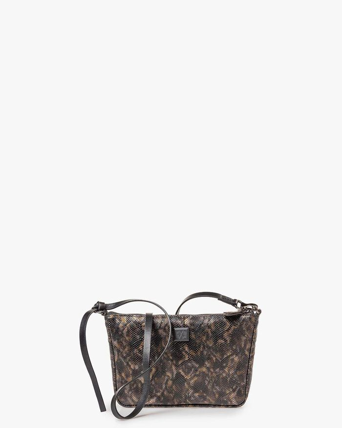 Bag croco print copper