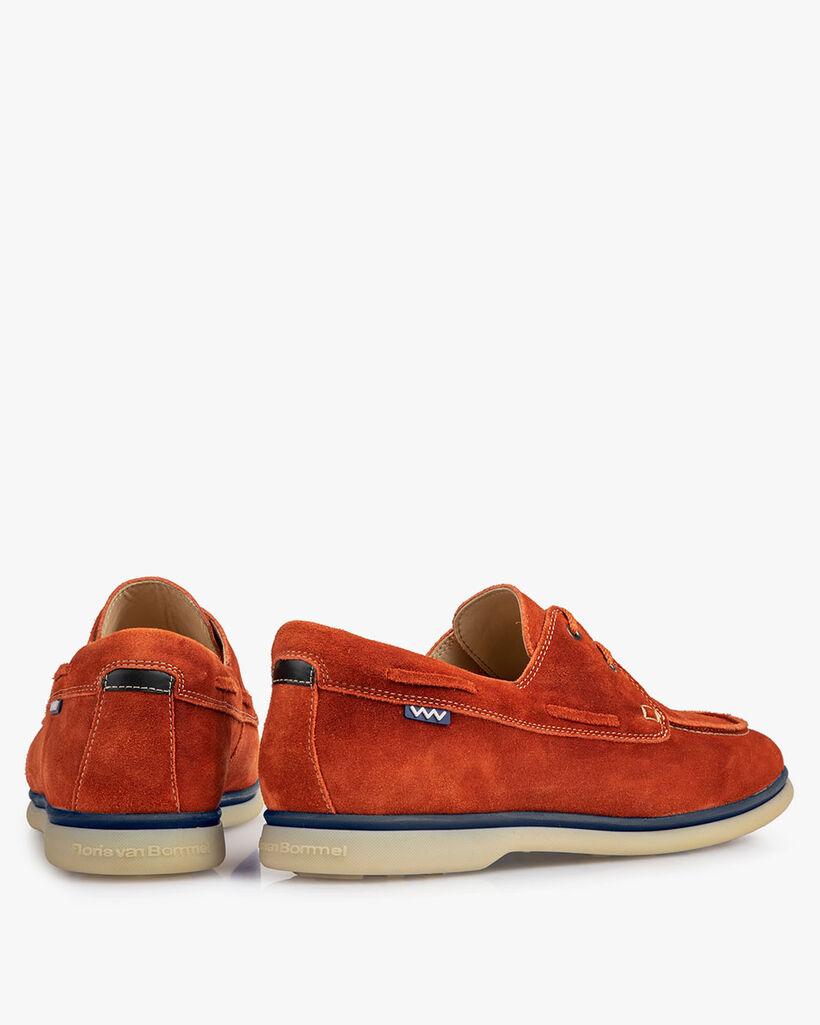 Bootsschuh Wildleder orange