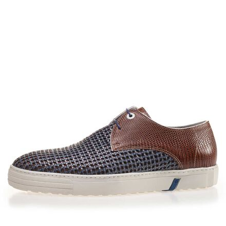 Premium combi-leather sneaker