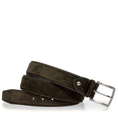 Gürtel auf Leder