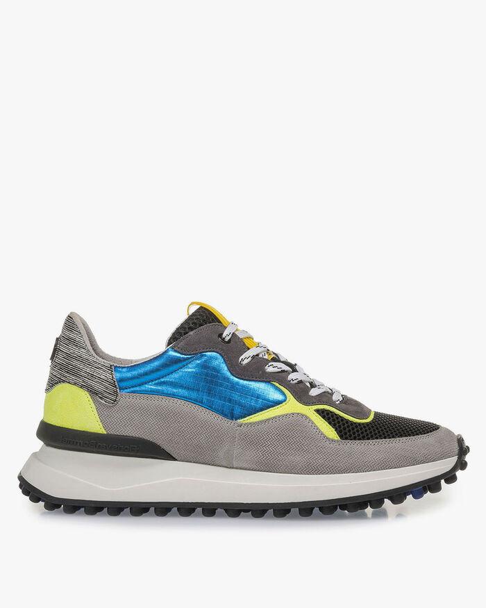 Mehrfarbiger Sneaker mit gelb-blauen Details