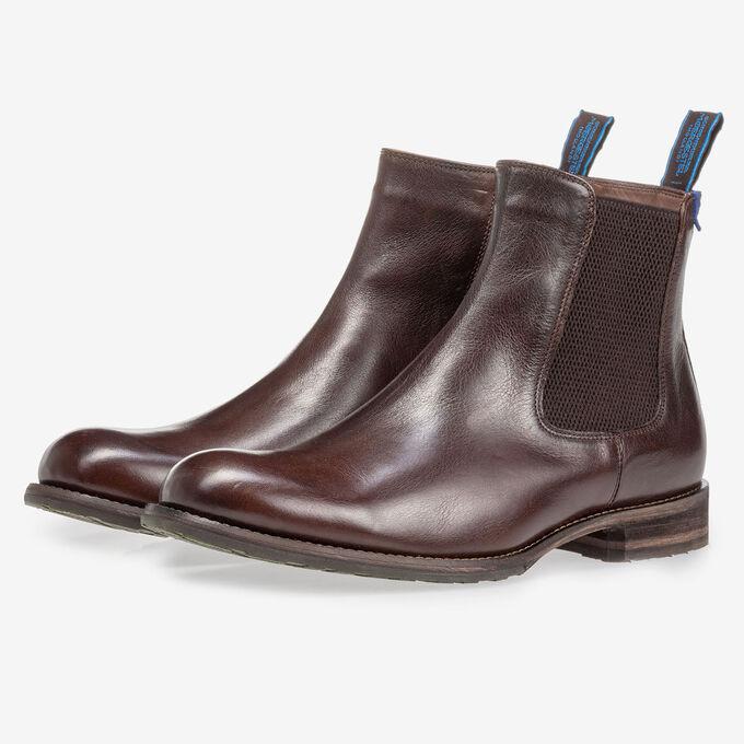 Mit Lammfell gefütterter brauner Chelsea Boot