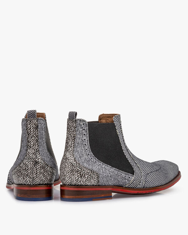 Chelsea boot leather off-white