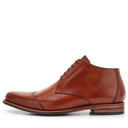 Floris van Bommel leather half-high men's lace-up boot