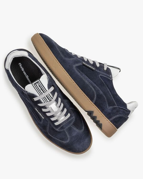Sneaker blau Wildleder