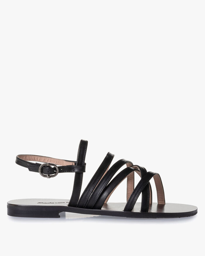 Sandale Kalbsleder schwarz