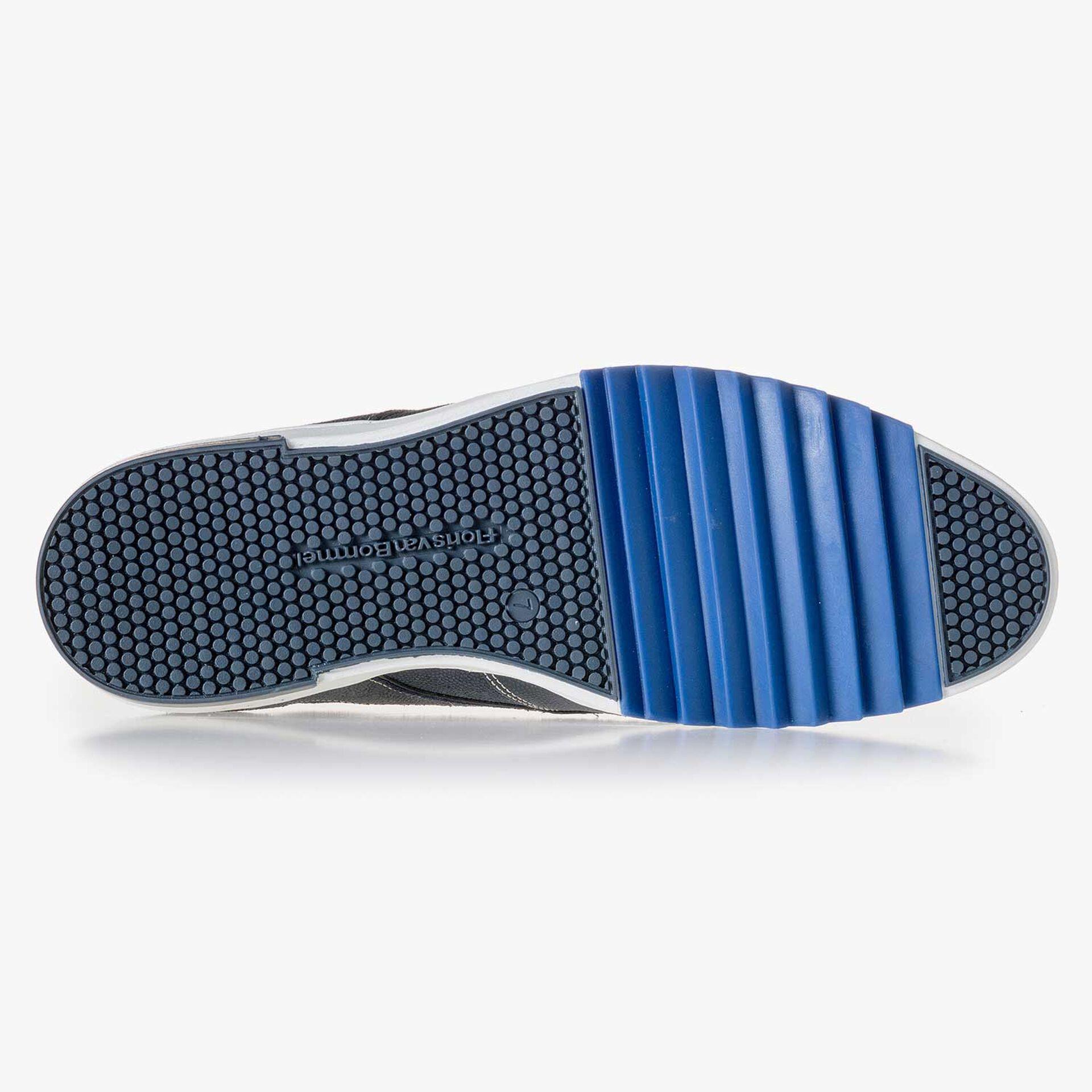 Dark blue patterned suede leather sneaker