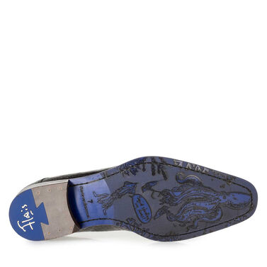 Premium printed leather lace shoe