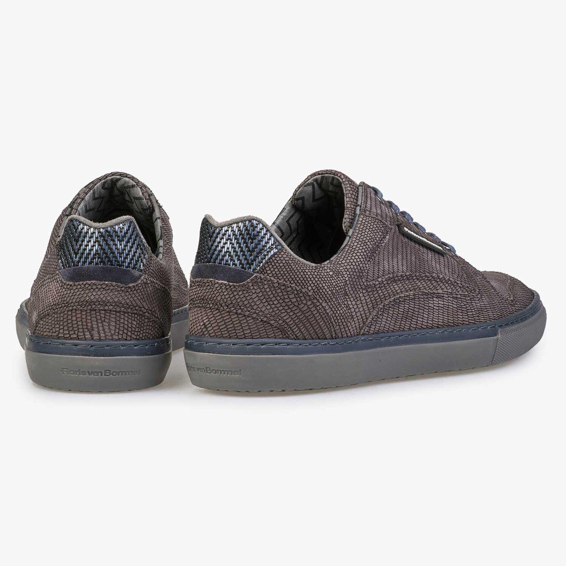 Grey-brown nubuck leather sneaker