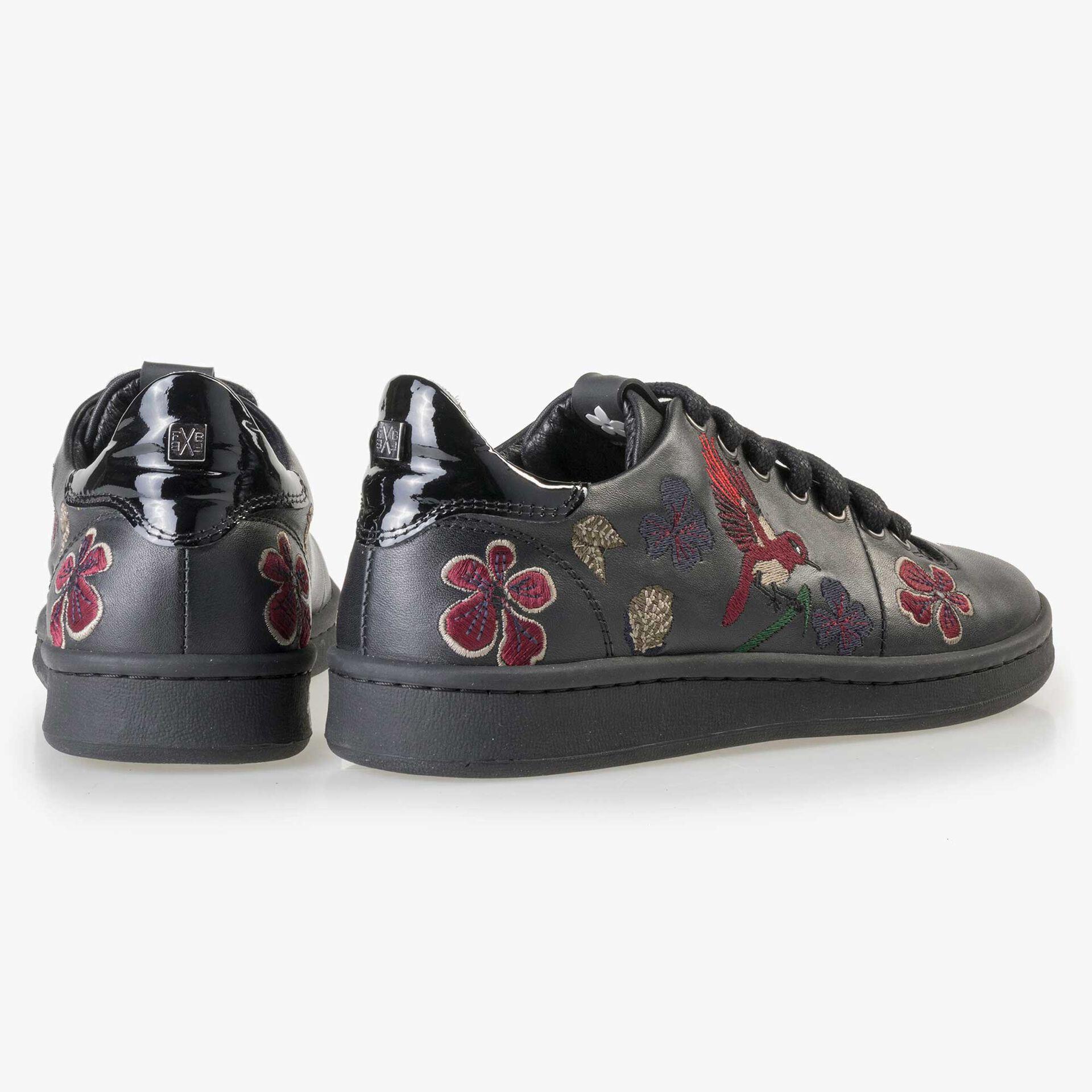 Floris van Bommel schwarzer Damen Leder Sneaker