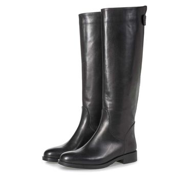 High calf leather boots