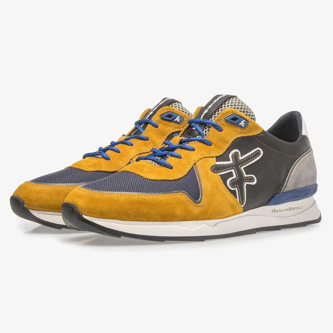 Mehrfarbiger Wildleder-Sneaker
