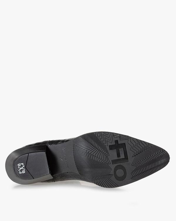 Chelsea Boot Reptilienprint schwarz