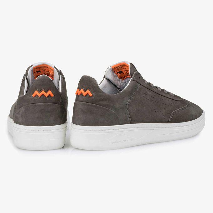 Dark grey nubuck leather sneaker