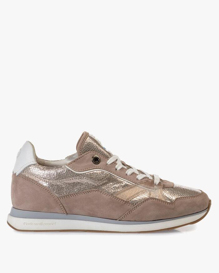 Sneaker Nubukleder beige