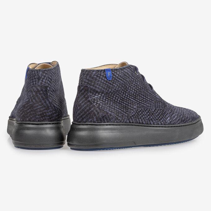 Boot zig-zag print blue