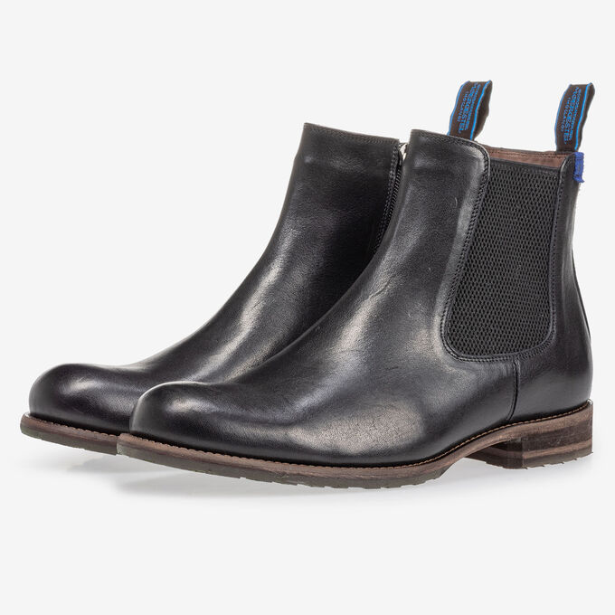 Lambskin lined Chelsea boot black