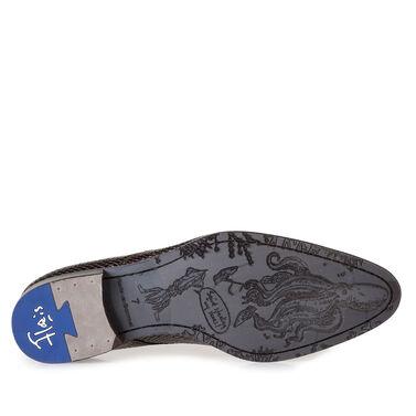 Lackleder-Schnürschuh mit Print