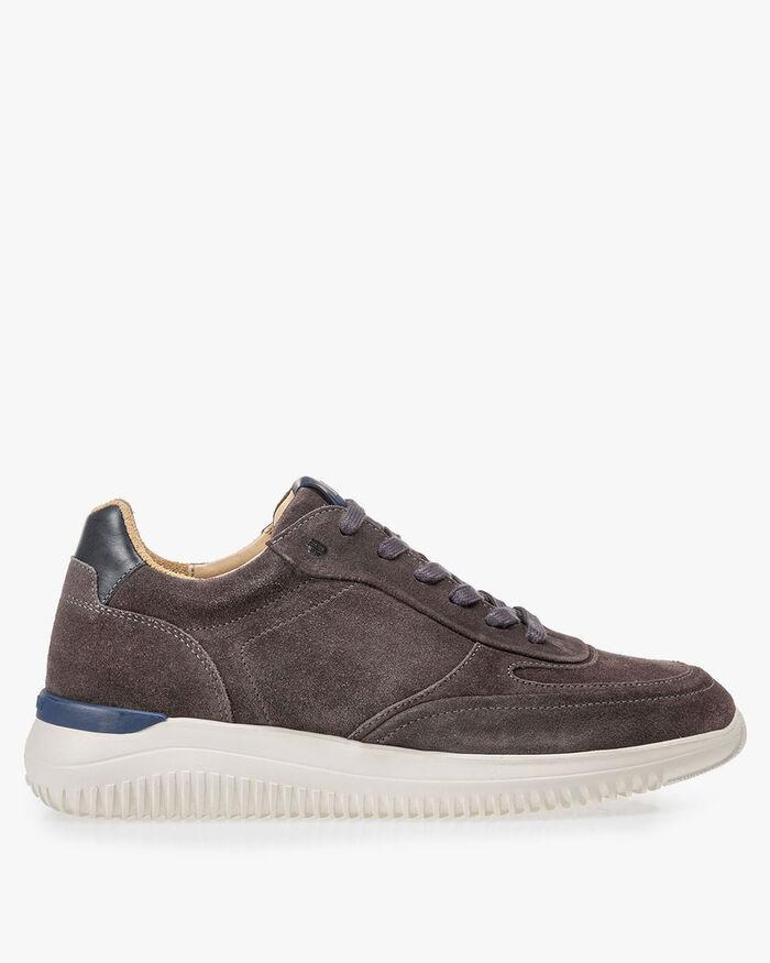 Grauer Wildleder-Sneaker