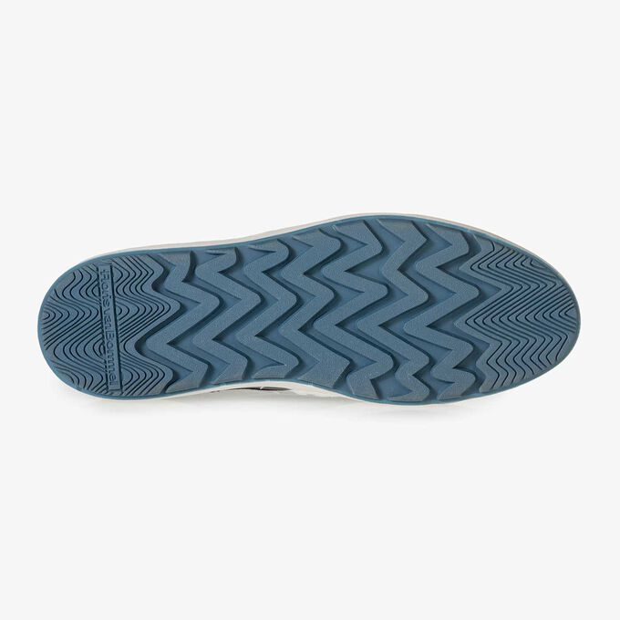 Schwarzer, halbhoher Nappaleder-Sneaker