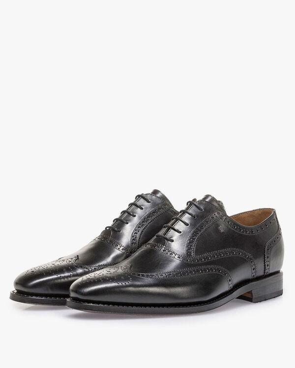 Black calf leather brogue