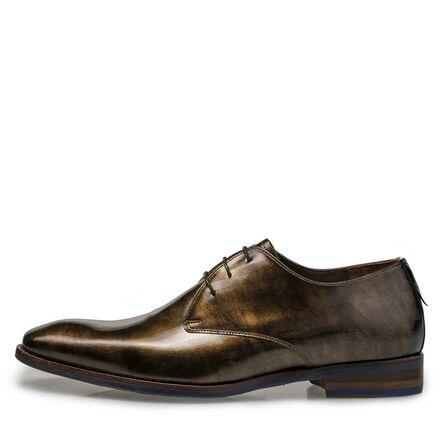 Premium patent leather lace shoe