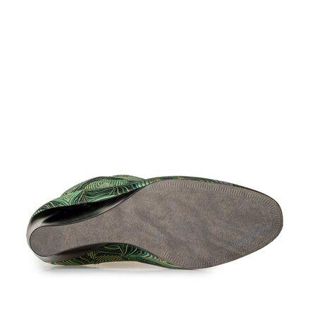 Mid-high wedge heel boots