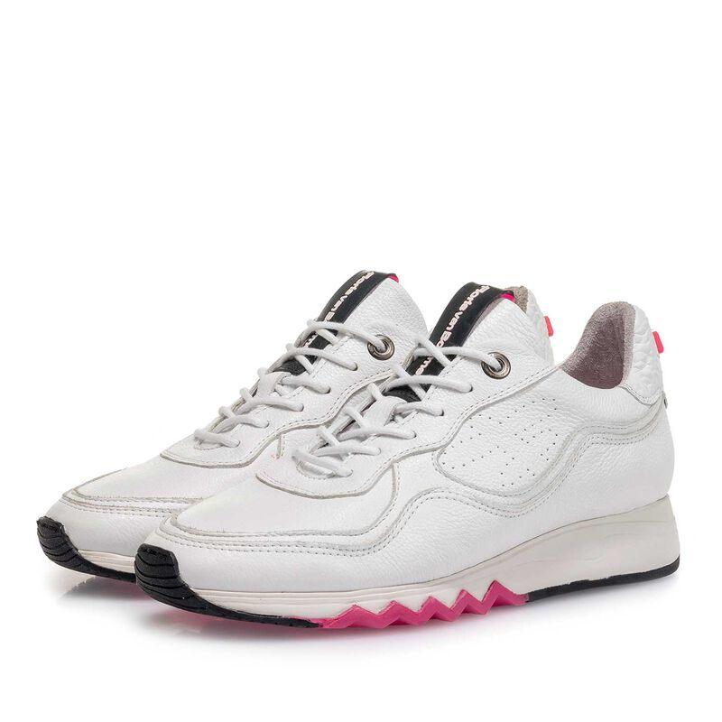 Floris van Bommel - Weißer fein strukturierter Kalbsleder-Sneaker - 1