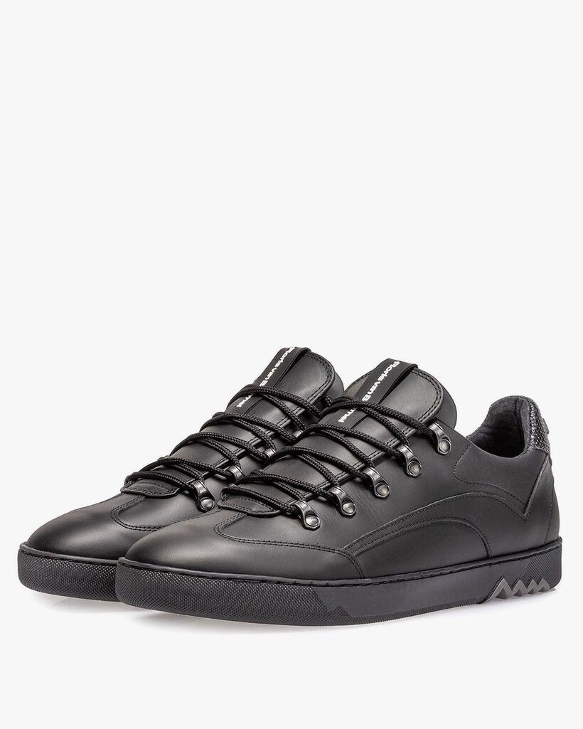 Leder-Sneaker schwarz
