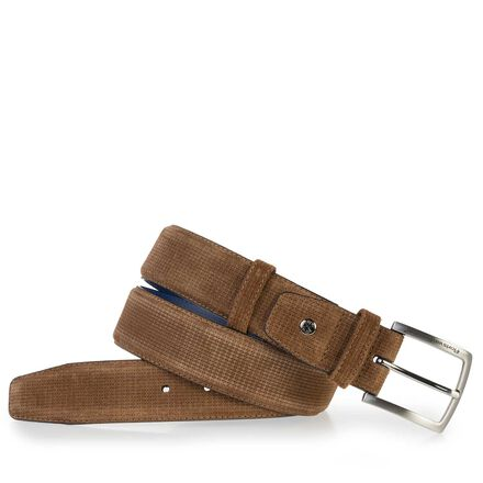 Suede leather men's belt