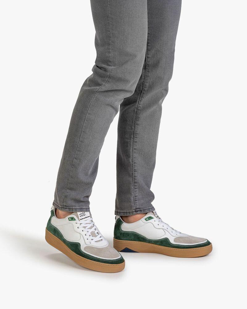 Sneaker Wildleder grün