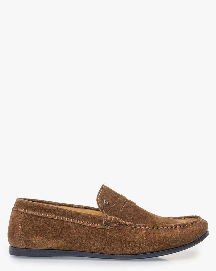 Brauner Wildleder-Loafer